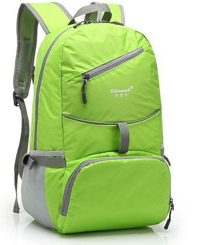 Folding bag waterproof Oxford backpack lightweight portable Travel Bags outdoor sports backpack กระเป๋าเป้กันน้ำพับได้ 25L