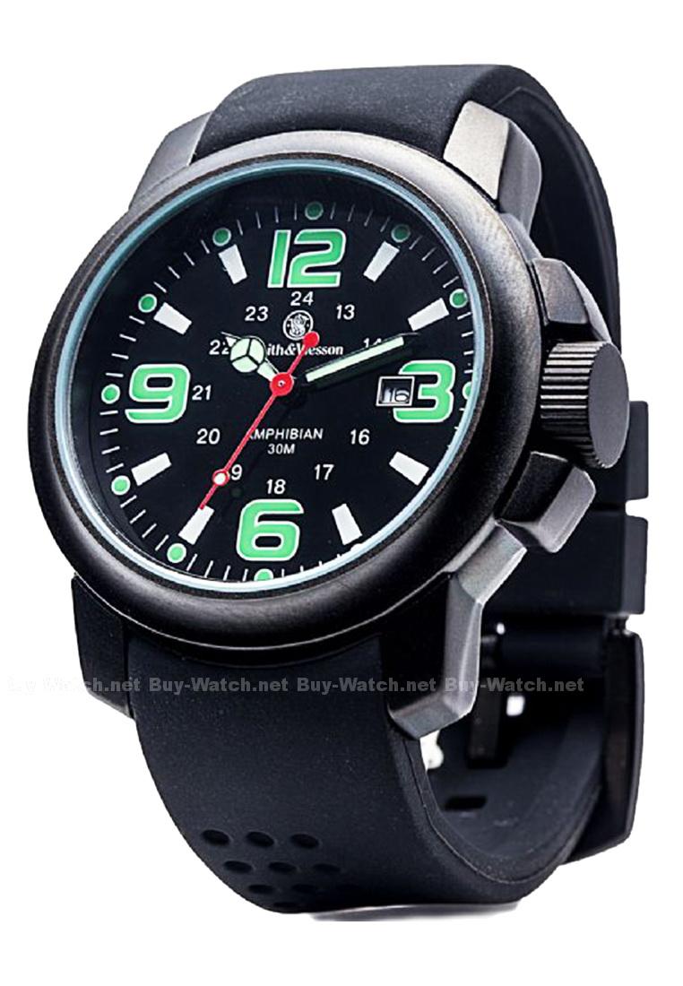 นาฬิกาทหาร Smith&Wesson watch Amphibian Series ชนิดมีพรายน้ำ ตัวเรือนไททาเนียม จาก Buy-Watch
