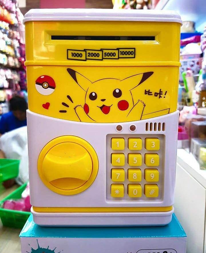 กระปุกออมสินตู้เซฟดูดแบงค์ลายปิกาจู pikachu pokemon