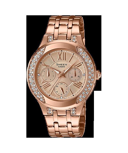 นาฬิกาข้อมือ CASIO SHEEN MULTI-HAND รุ่น SHE-3809PG-9A