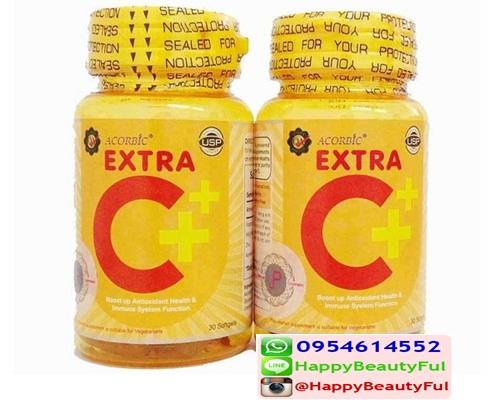 Acorbic Extra C+ Softgel 1@180 เอ็กซ์ตร้า ซี พลัส วิตามินซีซอฟเจล JP Natural Cosmetic