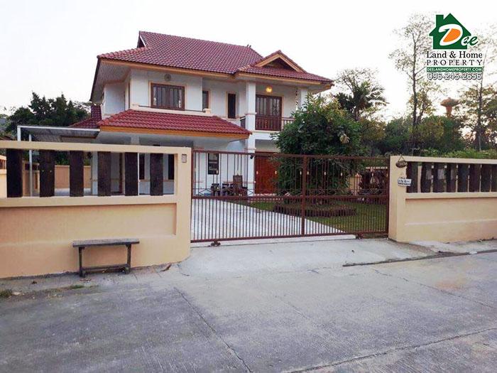 บ้านเดี่ยว 2ชั้น100ตรว. หมู่บ้านออมไทย เยื้องหุ่นขี้ผึ้งไทย ขุนแก้ว นครชัยศรี นครปฐม