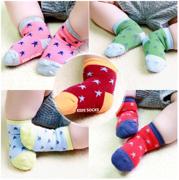 SK094••ถุงเท้าเด็ก•• Star มี 6 สี (ข้อสั้น-เลยตาตุ่ม)