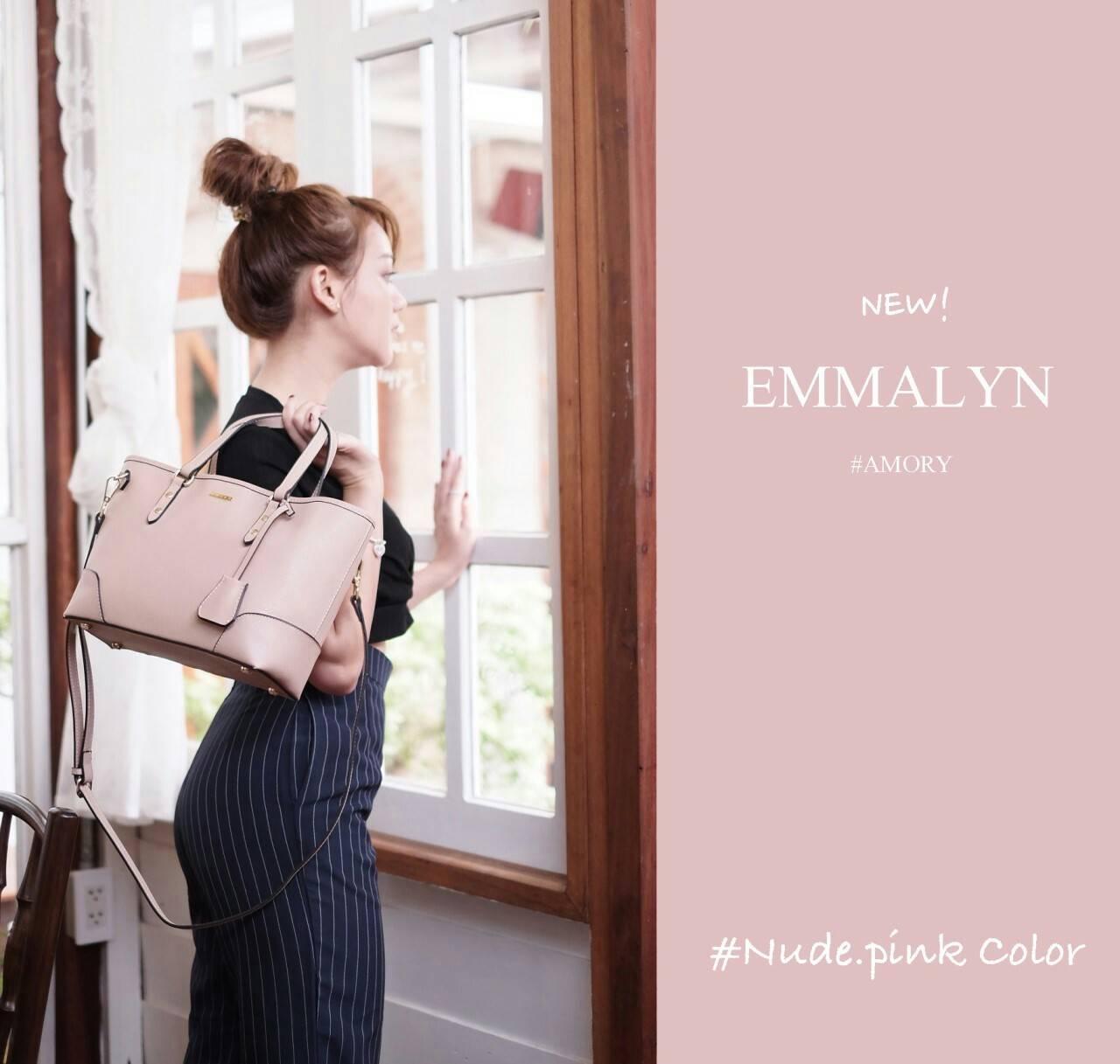 Amory Emmalyn Shopping Bag 2018 หนังแท้ สินค้าแท้จาก shop ออเจ้าห้ามพลาดโดยเด็ดขาดนะเจ้าค่ะ