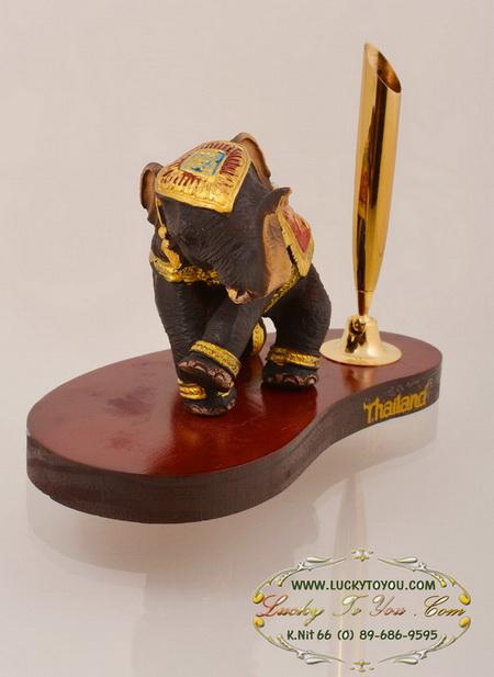 ของพรีเมี่ยม ที่เสียบปากกา ช้าง ขนาดกว้าง 12.5 ซม. สูง 7.5 ซม.