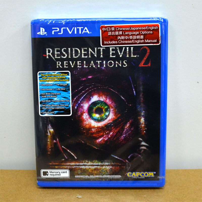 ++ Resident Evil ++ PS Vita Resident Evil: Revelations 2 Zone 3 Asia / English