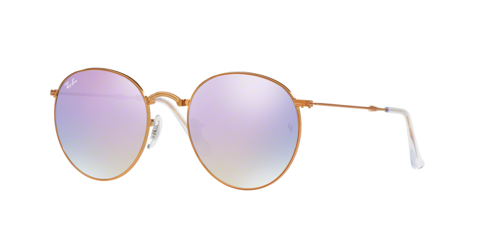 Ray Ban RB3532 198/7X Round Folding II SHINY BRONZE (พับได้)