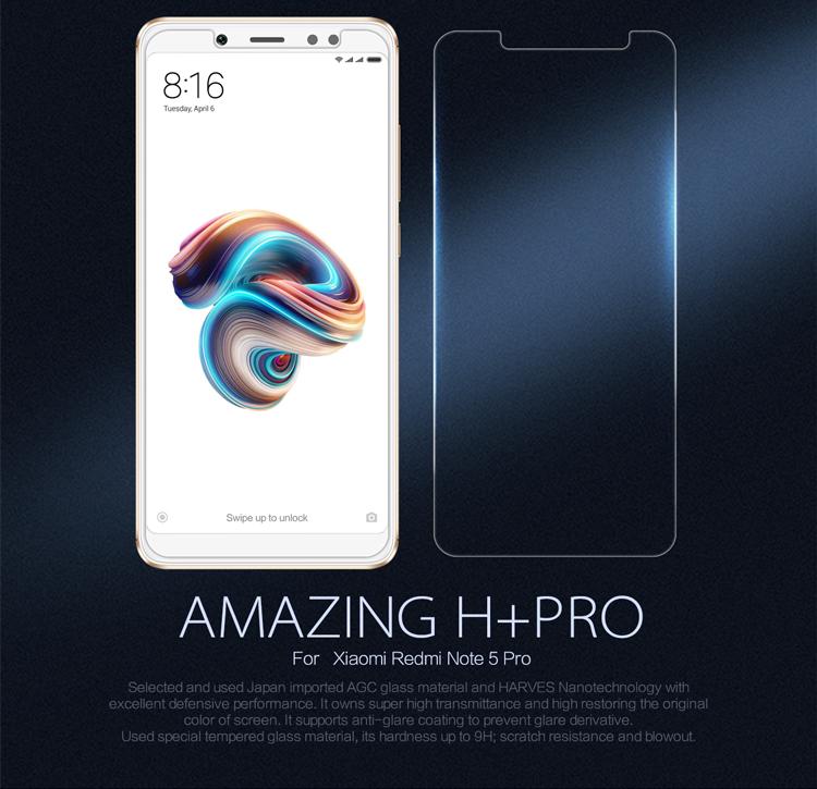 Xiaomi Redmi Note 5 / Redmi Note 5 Pro ฟิล์มกระจกนิรภัย Nillkin H+ Pro บาง 0.2mm (ไม่เต็มจอ)