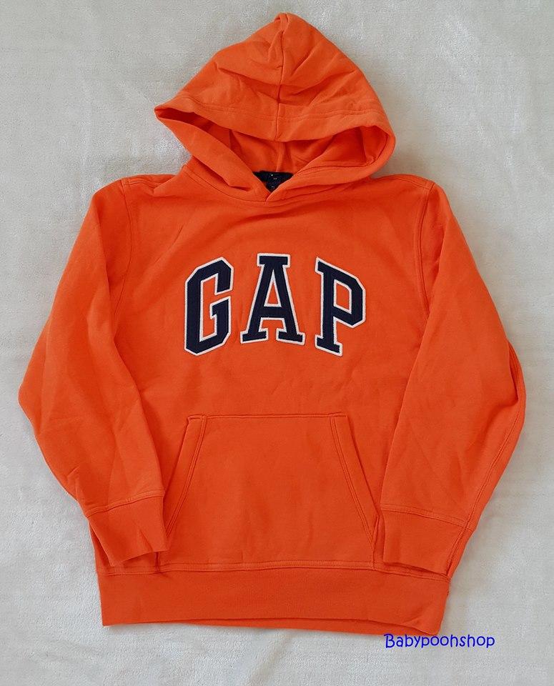 Gap : เสื้อกันหนาวแบบสวม ปักโลโก้ Gap สีน้ำเงิน ข้างในบุผ้าสำลี size XL