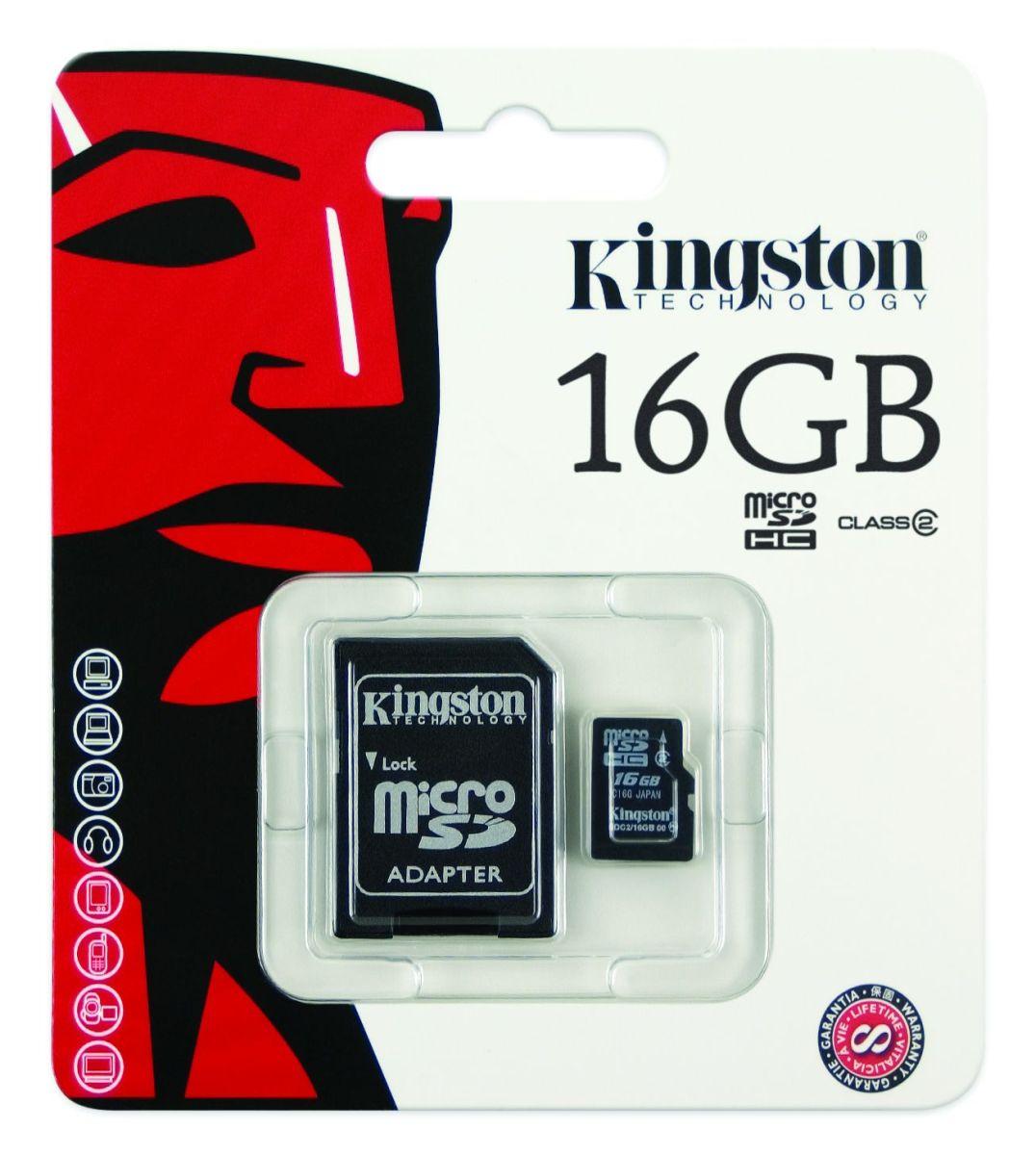 SD card Kingston 16 GB