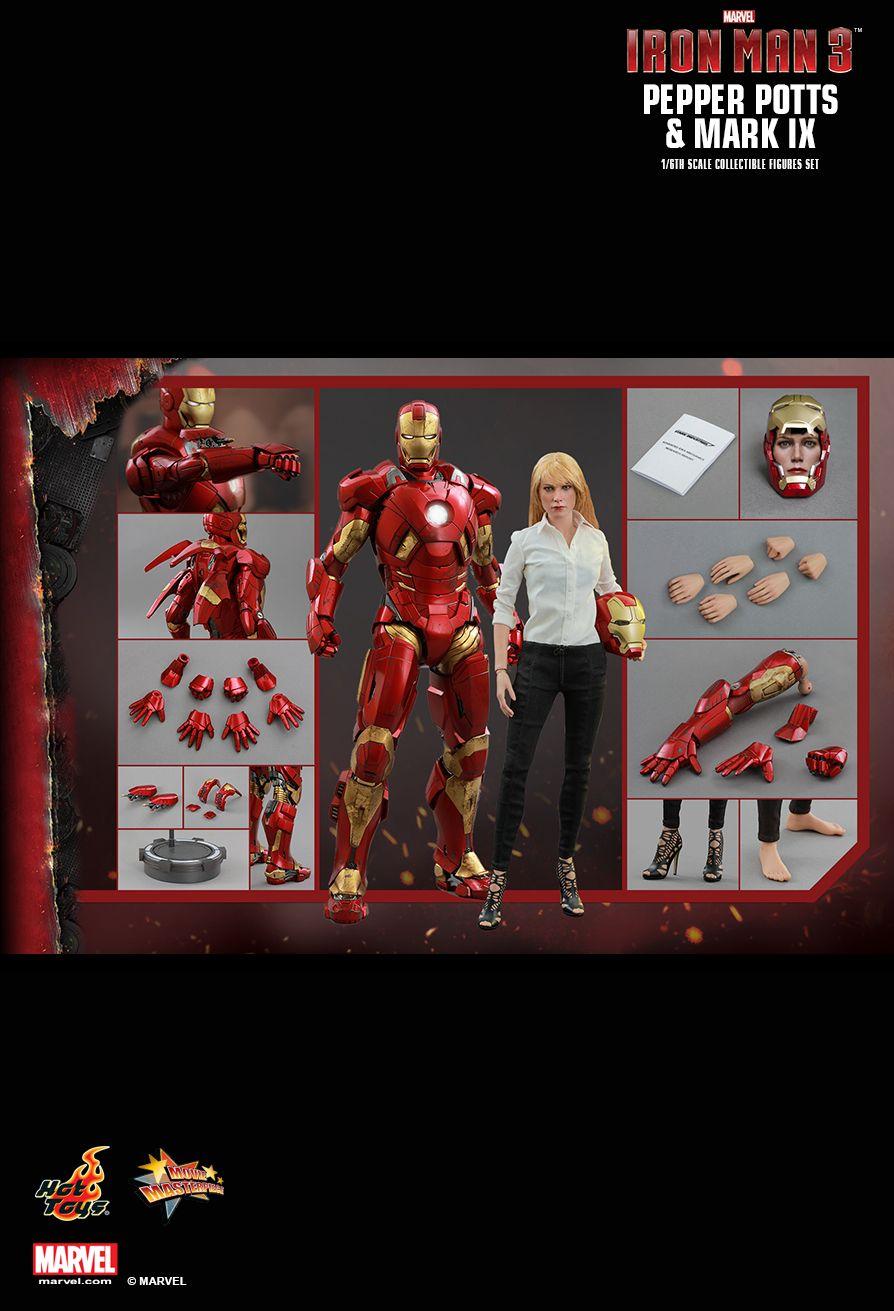 Hot Toys MMS311 IRON MAN 3 - PEPPER POTTS & MARK IX