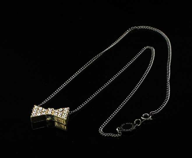 Bow tie Necklace by MMJ