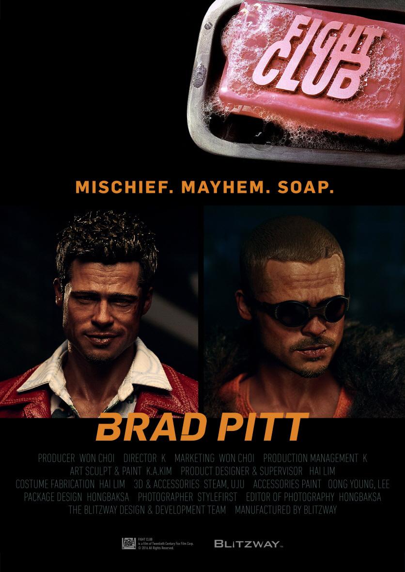 Blitzway BW-FC00326 Fight Club, 1999 Brad Pitt [Special Pack]