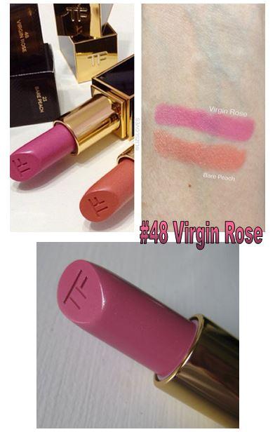 **พร้อมส่ง**Tom Ford Lip Color #48 Virgin Rose ลิปสติกเนื้อดีเลอเลิศจากแบรนไฮโซสุดฮอต หรูหรา และคุณภาพดีสุดๆ ทาออกมาแล้วให้สีเรียบเนียนสม่ำเสมอและไม่เป็นคราบระหว่างวัน ,