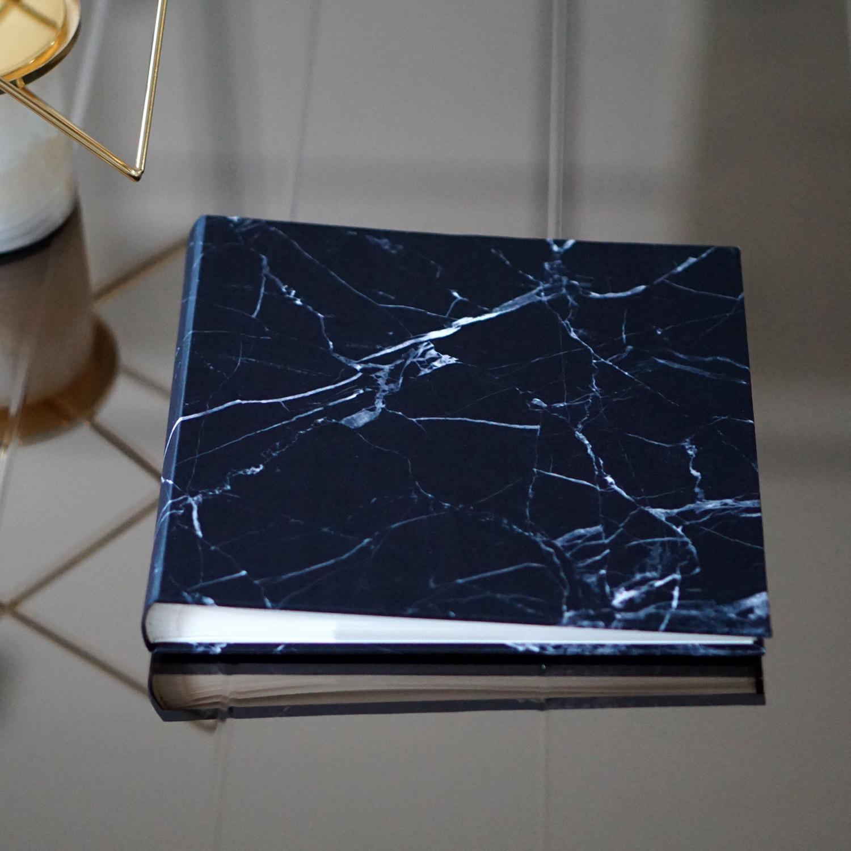 """อัลบั้ม 100 รูป (4x6"""") พร้อมส่ง ลาย หินอ่อนสีดำ"""