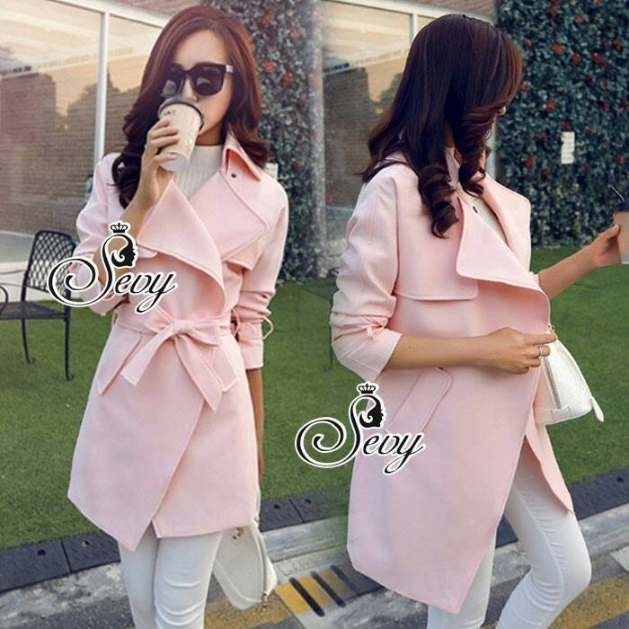 c698398badb1 Sevy Smart Casual Korean Style Over Coat - te amo shop : Inspired by ...