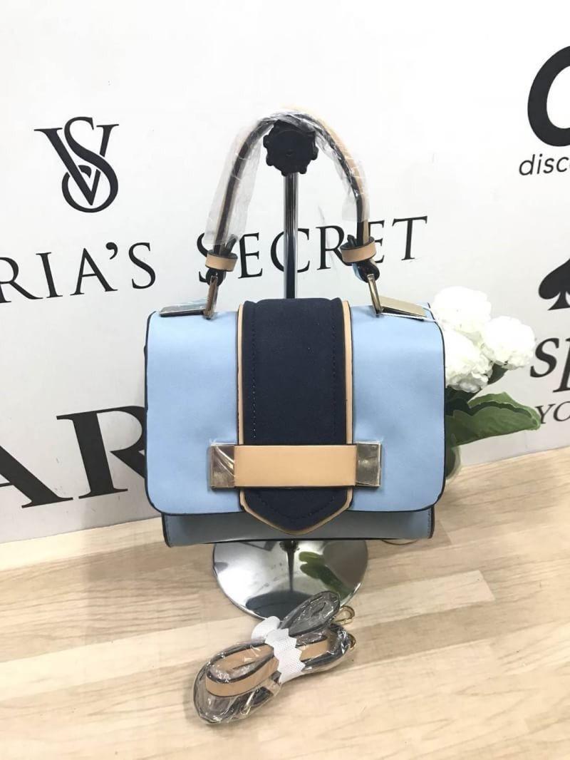 3414eea182 Zara mini sac city Bag กระเป๋าถือหรือสะพายข้าง ขนาดมินิ ด้านหน้าแต่งสี
