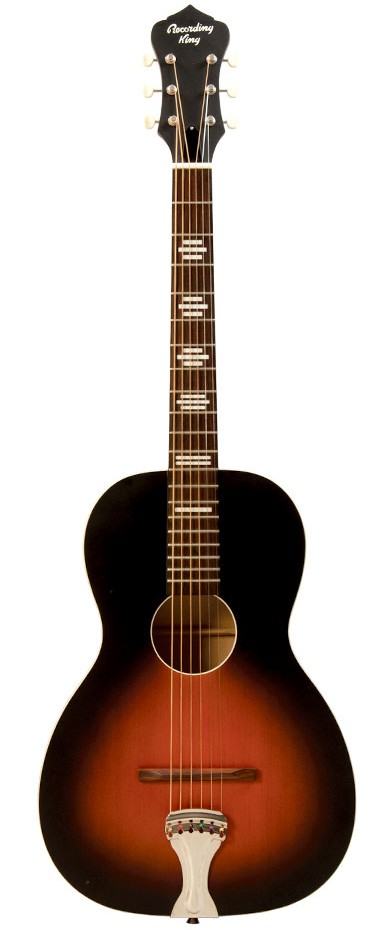 Recording King Acoustic Guitar Dirty 30's Single 0 Resonator RPH-R1 Tobacco Sunburst