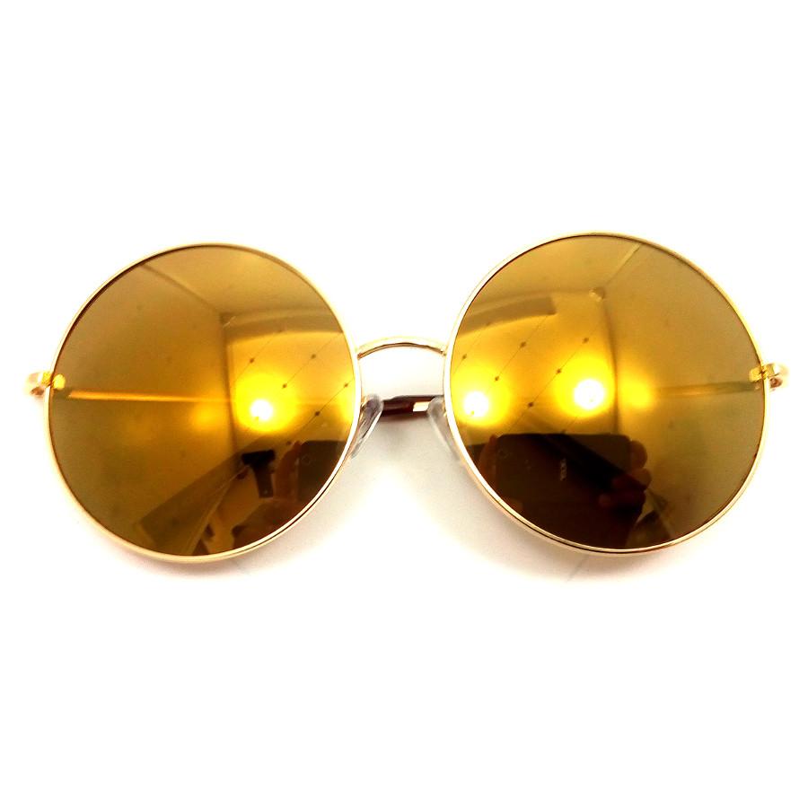 แว่นกันแดดแฟชั่น ทรงกลม กรอบสีทอง เลนส์สีทอง รุ่น OR60 สำเนา