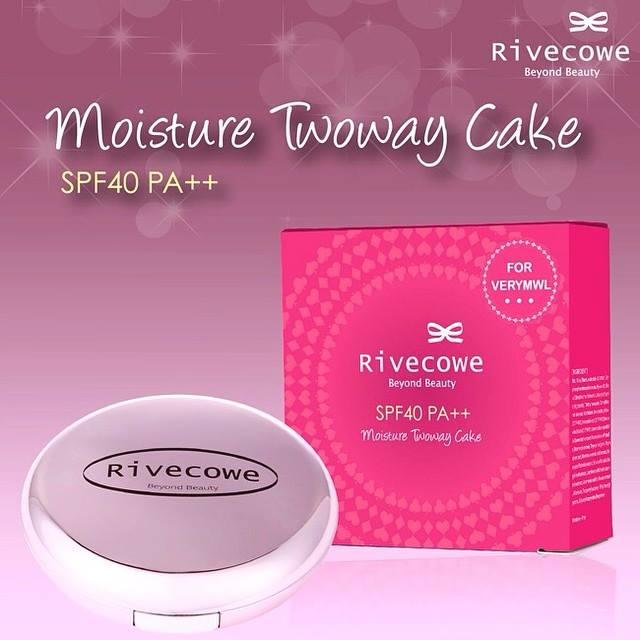 Rivecowe Moisture Twoway Cake SPF40 PA++ รีฟโคว แป้งเค้กผสมรองพื้น
