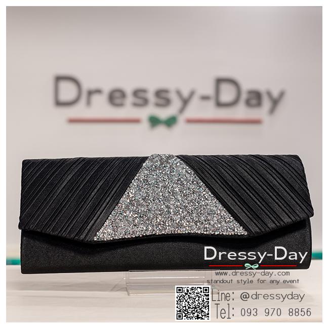 กระเป๋าออกงาน TE016: กระเป๋าออกงานพร้อมส่ง สีดำ ดีเทลเพชรสุดหรู ราคาถูกกว่าห้าง ถือออกงาน หรือ สะพายออกงาน สวย หรู ดูดีเริ่ดมากค่ะ