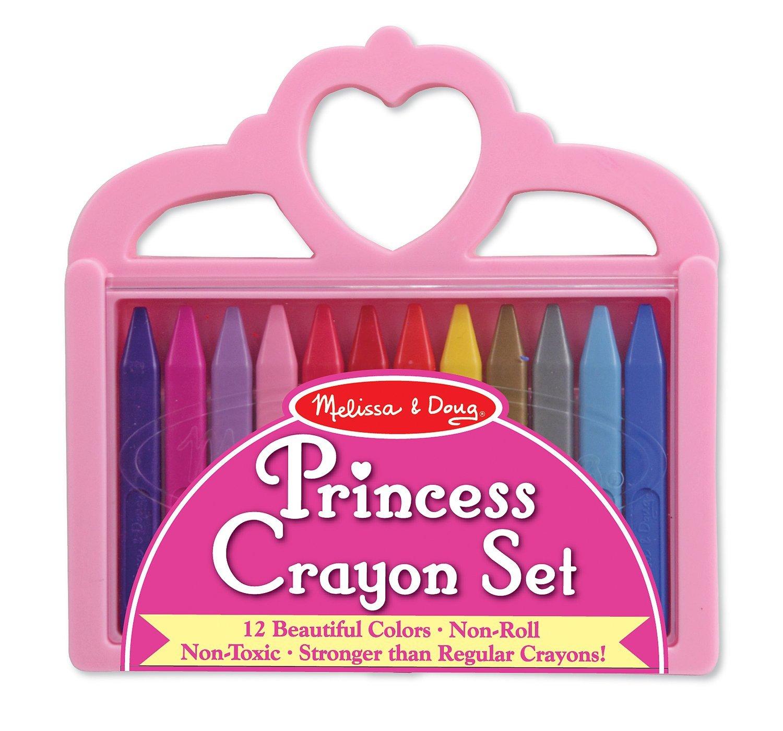 Melissa & Doug Princess Crayon Set 12 สี