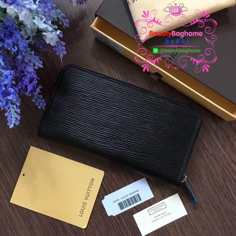 Louis vuitton zippy Wallet Apiลายไม้ สีดำ งานHiend 1:1