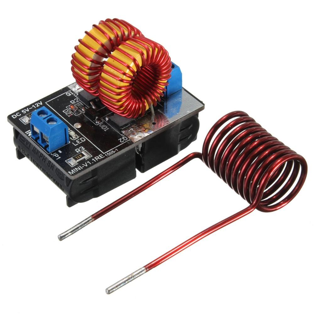 โมดูลจ่ายพลังงานความร้อนแบบเหนี่ยวนำ ZVS Low Voltage Induction Heating Power Supply Module 5-12v