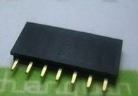 2.54mm 1X7 7Pin Gold-plated Single Row Straight Female Pin Header