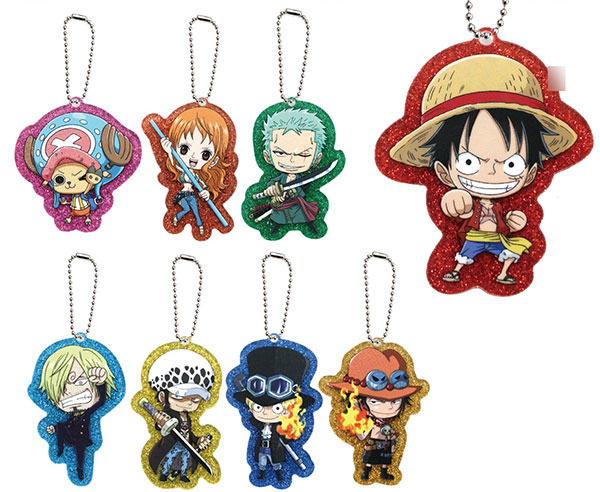 ONE PIECE - Glittery Acrylic Charm Collection 8Pack BOX(Pre-order)