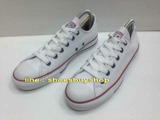 รองเท้า converse หนัง สีขาว