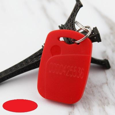 Key card ID พวงกุญแจคีย์การ์ด 125 KHz สีแดง