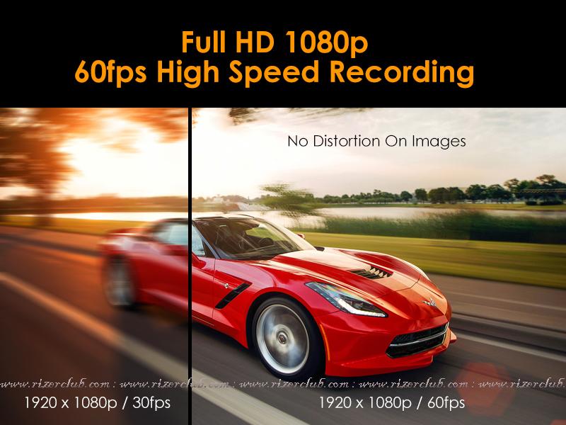 กล้องติดรถยนต์ Vico-Opia1 Full HD 1080p 60fps High Speed Recording