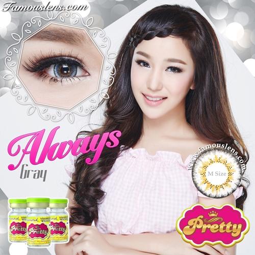 Always Gray Contact Lens คอนแทคเลนส์ พริตตี้ ญาญ่า Vassen