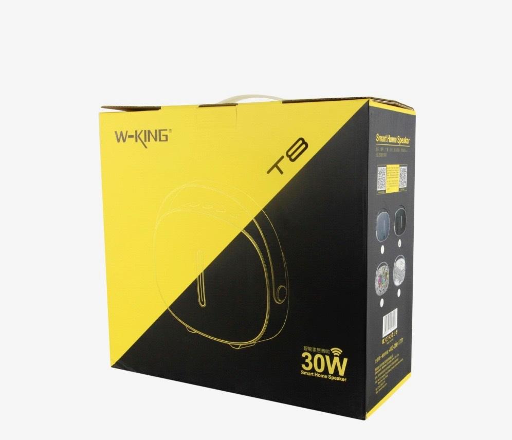 อุปกรณ์ภายในกล่อง - ลำโพงไร้สาย W-KING T8 - Adapter สำหรับชาร์จ - สาย AUX - คู่มือการใช้งาน