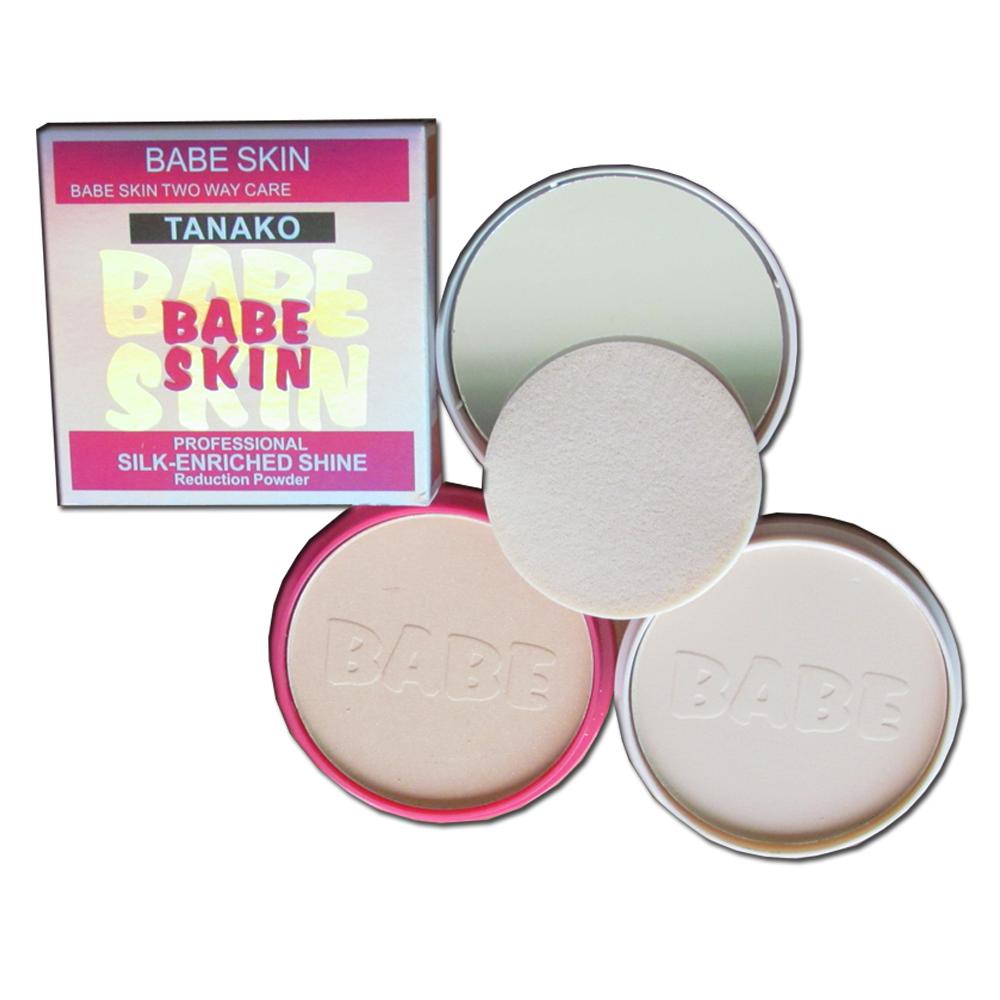 Tanako Babe Skin 2 way cake แป้งพัฟ แป้งเค้ก 2 ชั้น หน้าขาวเนียน หน้าเงากระจ่างใส ป้องกันแดด รังสียูวี (1 กล่อง)