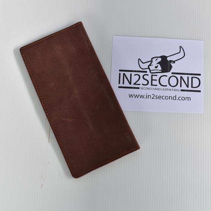 NS-11 กระเป๋าสตางค์ หนังแท้ สีน้ำตาล