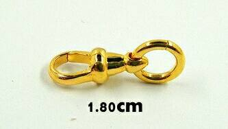 สปริงก้ามปูทองคำแท้ 90% แบบไม่หมุน ขนาด 1.8ซม.