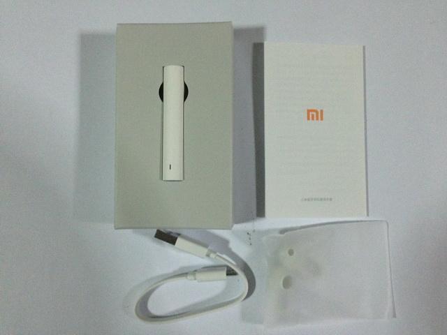 สินค้าในกล่อง หูฟังบลูทูธ Xiaomi Headset สีขาว