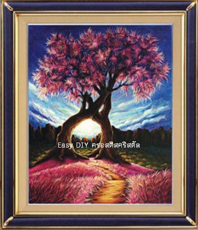 เซ็ตอุปกรณ์งานฝีมือ ครอสติสคริสตัลรูปต้นไม้แห่งรัก Tree of love