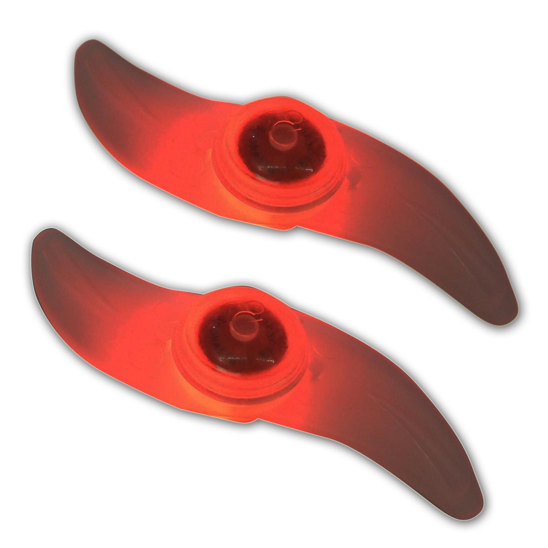 ไฟติดจักรยานแบบ LED ติดตั้งที่วงล้อ แบบปีก - แสงไฟสีแดง - ไฟติดซี่ล้อจักรยาน