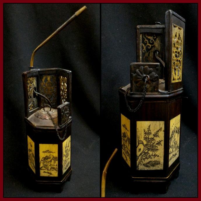 ไปป์ งานเก่า ศิลปะจีน สูง 19.5cm
