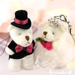 พวงกุญแจน้องหมีคู่รัก มี 2 ชิ้น
