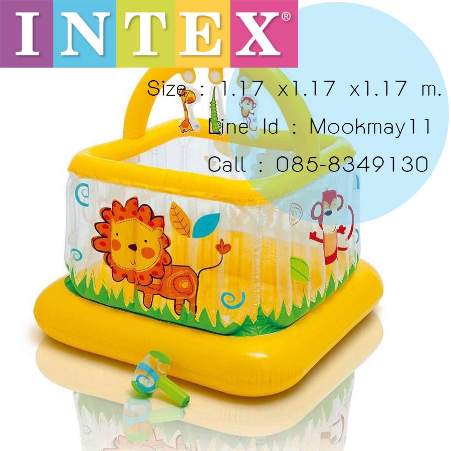 Intex Soft - Slides Lil' Baby Gym คอกกั้นเด็กเล็กนุ่มสีเหลือง 48473
