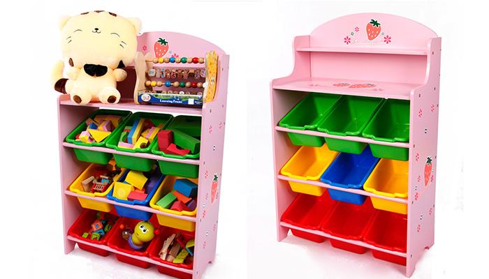 strawberry keeping toys, ชั้นวางของเล่น, ชั้นของเล่นชมพู, ชั้นวางของเล่น สตอเบอรี่, ชั้น สตอเบอรี่ ชมพู