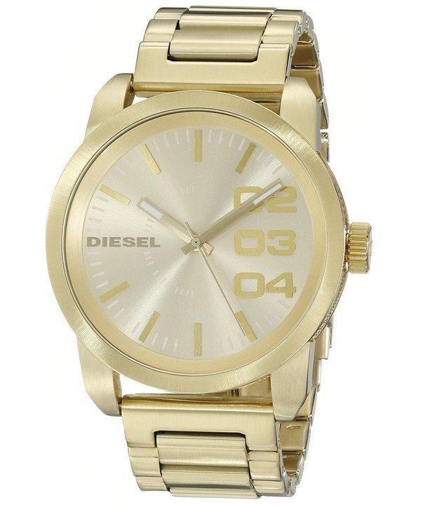 นาฬิกาผู้ชาย Diesel รุ่น DZ1466, Franchise Gold Ion-plated Double Down