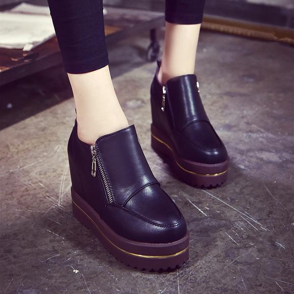 รองเท้าบู๊ตกันน้ำรองเท้าแพลตฟอร์ม