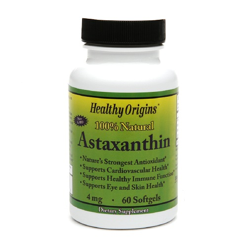 Healthy Origins Astaxanthin 4 mg, Softgels 60 ea
