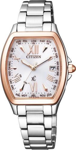 นาฬิกาข้อมือผู้หญิง Citizen Eco-Drive รุ่น EC1104-55A, Radio World Time Japan Sapphire