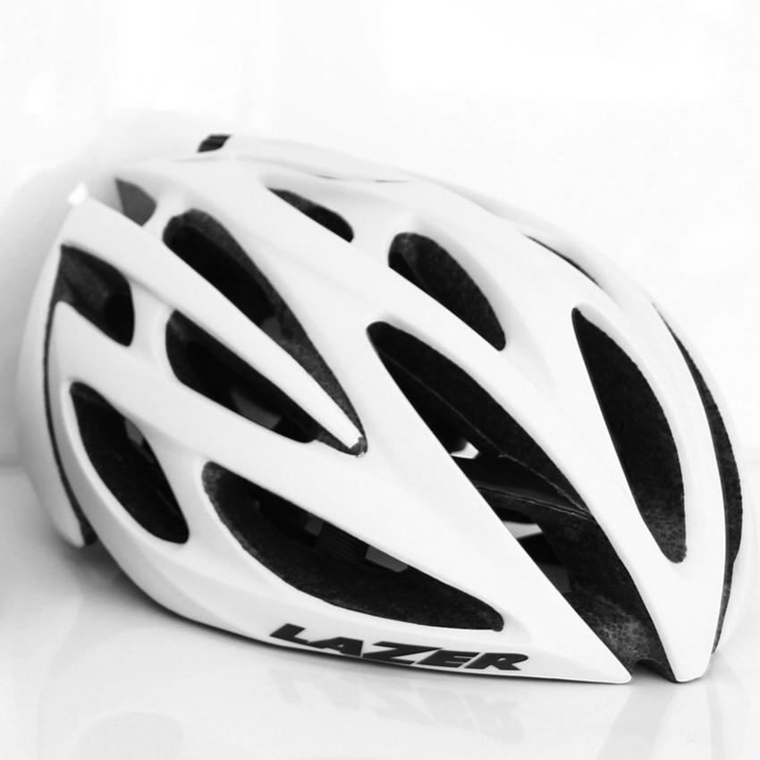 หมวกจักรยาน LAZER O2 สี Matte White